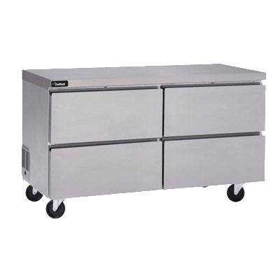 """Delfield GUR48P-D 48"""" Worktop Refrigerator w/ (2) Sections & (4) Drawers, 115v"""