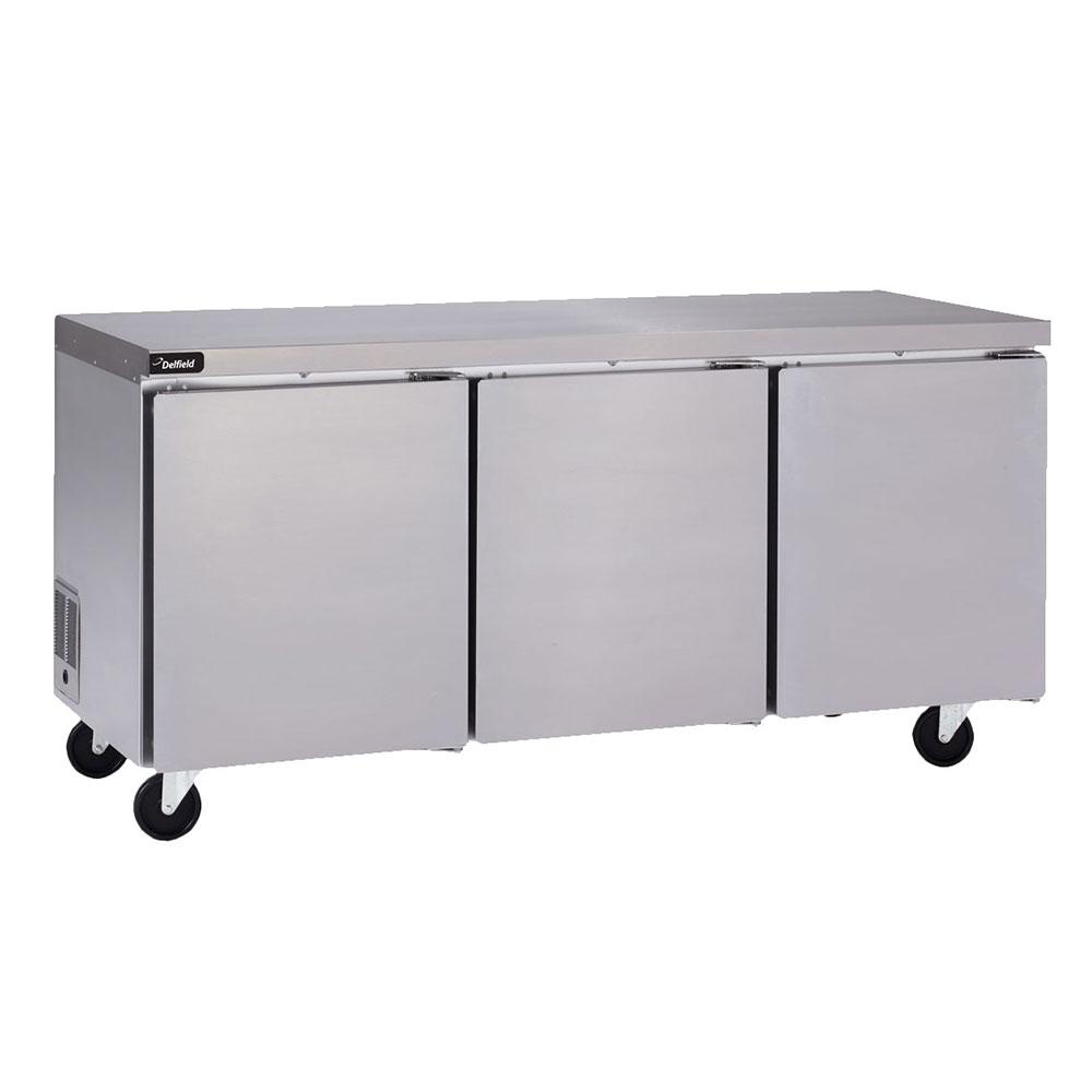 "Delfield GUR72P-S 72"" Worktop Refrigerator w/ (3) Sections, 115v"