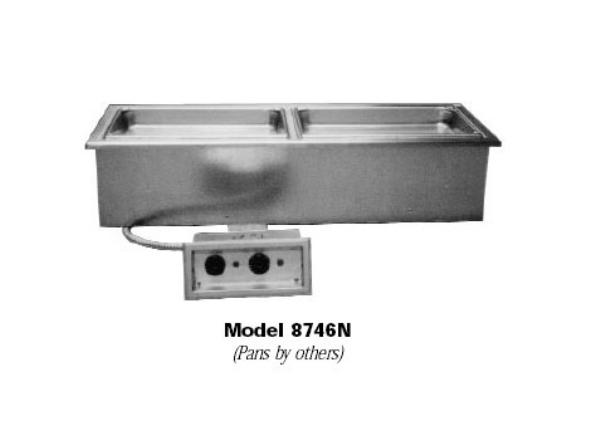 Delfield N8768N Drop-In Hot Food Well Unit, 3 Pan Size, Narrow