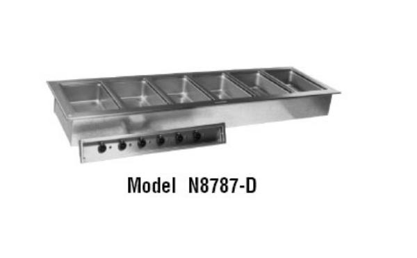 Delfield N8887 Drop-In Hot Food Well Unit, 6 Pan Size