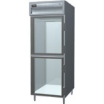 Delfield SAH1-GH Single Reach-In Hot Food Cabinet w/ Half Glass, 24.96-cu ft, 120/208-230V
