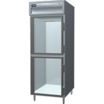 Delfield SAH1-GH Single Reach-In Hot Food Cabinet w/ Half Glass, 24.96-cu ft, 120/208-230V