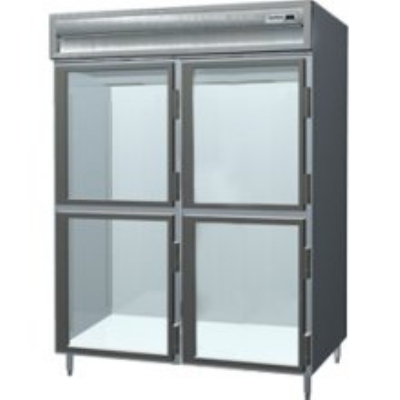Delfield SAH2-GH Single Reach-In Hot Food Cabinet w/ Half Glass, 51.92-cu ft, 120/208-230V