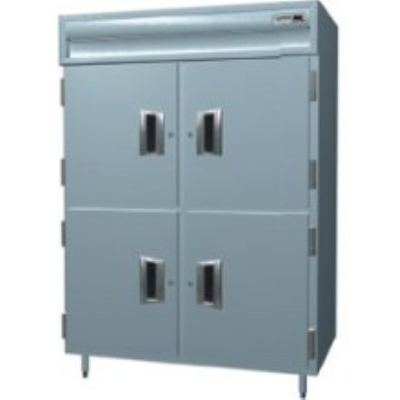 Delfield SAH2-SH Double Reach-In Hot Food Cabinet w/ Solid Half, 51.92-cu ft, 120/208-230V