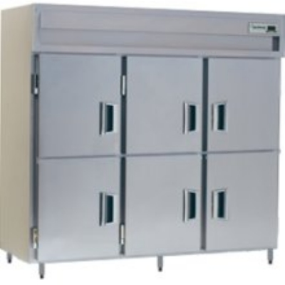 Delfield SAH3-SH 3-Section Reach-In Hot Food Cabinet w/ Half Solid, 78.89-cu ft, 120/208-230V