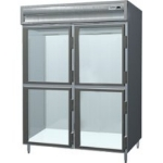 "Delfield SARPT2-GHSH 56"" Two Section Pass-Thru Refrigerator, (4) Glass Door, 115v"