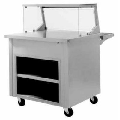 Delfield SC-36-NU Shellysteel Solid Top Serving Counter, 36 in L, Enclosed Base, Casters
