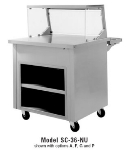 Delfield SC-50-NU 50-in Solid Top Serving Counter w/ Enclosed Base