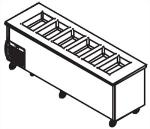 Delfield SCSC-50-EF 50-in LiquiTec Cold Food Serving Counter, Holds 3-Pans