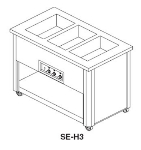 Delfield SE-H4 64-in Hot Food Serving Counter w/ 4-Wells, Open Base & Undershelf