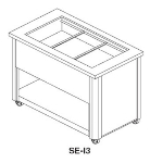 Delfield SE-I3 50-in Ice-Cooled Cold Food Serving Counter w/ Perforated Bottom, 3-Pan