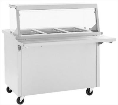 Delfield SH-3 3-Pan Size Hot Food Serving Counter w/ Heated Storage Base