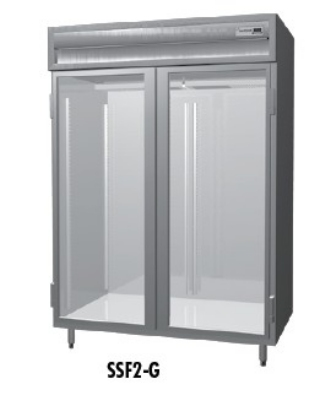 "Delfield SMF2-G 56"" Two Section Reach-In Freezer, (2) Glass Doors, 115v"
