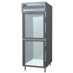 Delfield SMH1-GH Single Reach-In Hot Food Cabinet w/ Half Glass Doors, 24.96-cu ft