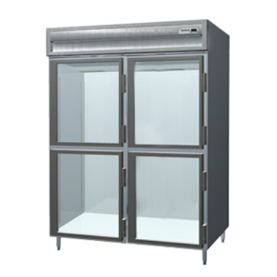 Delfield SMH2-GH 2-Section Reach-In Hot Food Cabinet w/ Half Glass, 51.92-cu ft, 120/208-230V