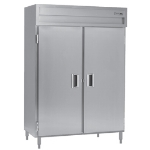 Delfield SMH2-S 2-Section Reach-In Hot Food Cabinet w/ Full Solid, 51.92-cu ft, 120/208-230V