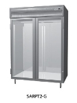 "Delfield SMRPT2-GHSH 56"" Two Section Pass-Thru Refrigerator, (2) Glass Door, 115v"