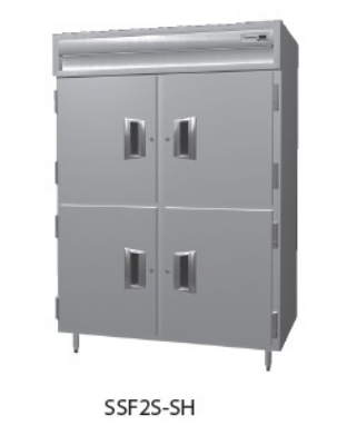 """Delfield SSF2S-SH 56"""" Two Section Reach-In Freezer, (4) Solid Doors, 115v"""