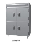 Delfield SSH3-SH 3-Section Reach-In Hot Food Cabinet w/ Half Solid Door, 78.89-cu ft