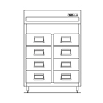 "Delfield SSRFF2-S 56"" Two Section Reach-In Fish Drawer, (8) Drawers, 115v"