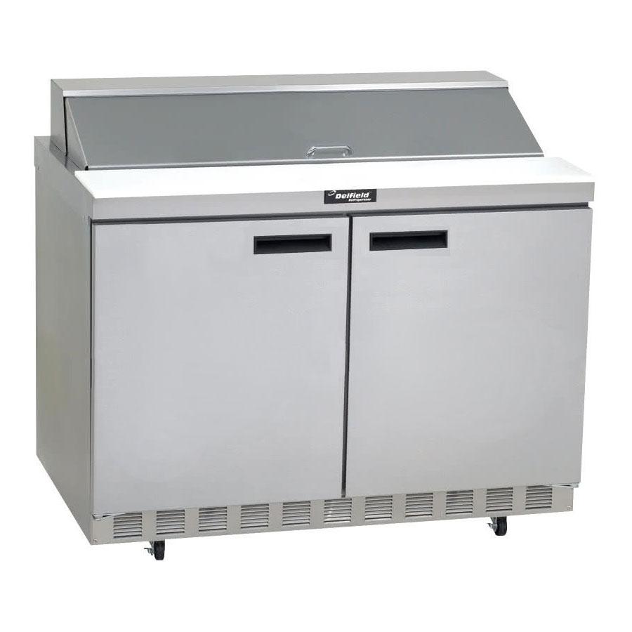 "Delfield ST4460N-8 60"" Sandwich/Salad Prep Table w/ Refrigerated Base, 115v"