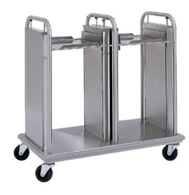 "Delfield TT2-1014 Dual Self-Elevating Mobile Tray Dispenser w/ Open Frame for 11 x 15"""