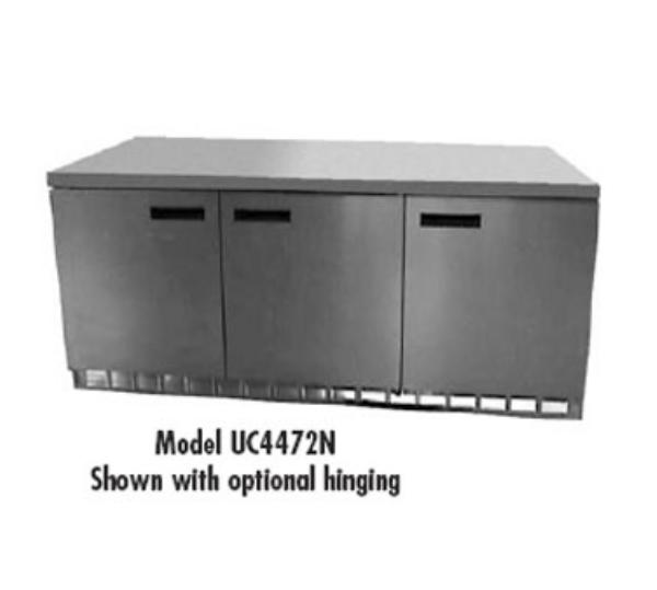 Delfield UC4472N 17.7-cu ft Undercounter Refrigerator w/ (3) Sections & (3) Doors, 115v