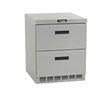 Delfield UCD4427N 27 in Undercounter Refrigerator, 1 Section/2 Drawers