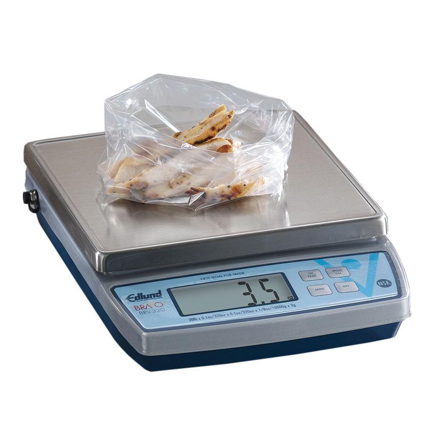"Edlund BRV-320 20-lb Square Digital Scale w/ Removable Platform - 7"" x 7"", Stainless"