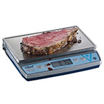 "Edlund BRV-480 30-lb Square Digital Scale w/ Removable Platform - 11.4"" x 7"", Stainless"