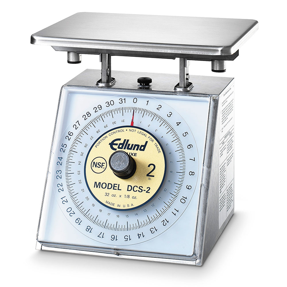 Edlund DCS-2 Scale, Portion Control, Rotating Dial, Dishwasher Safe, 32 oz X 1/8 oz