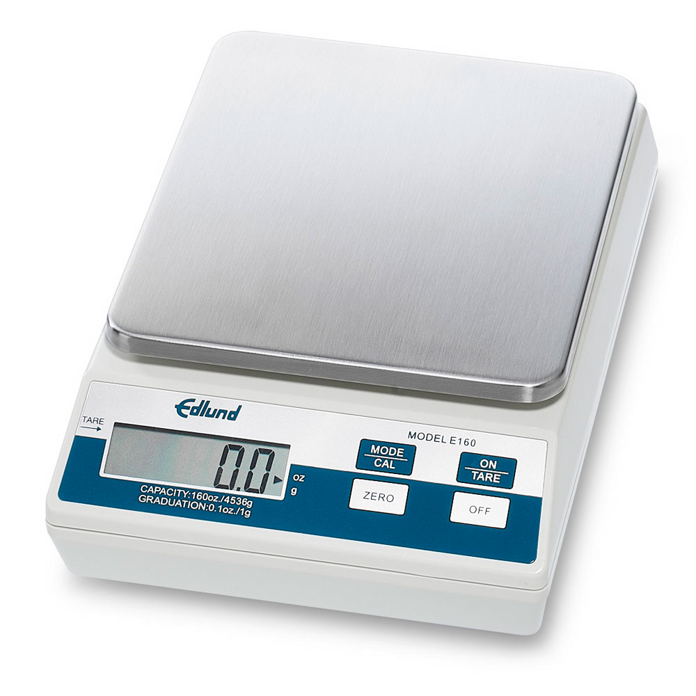 Edlund E-160 Digital Portion Scale, Auto Push Button Tare, 160-oz x 0.1 oz