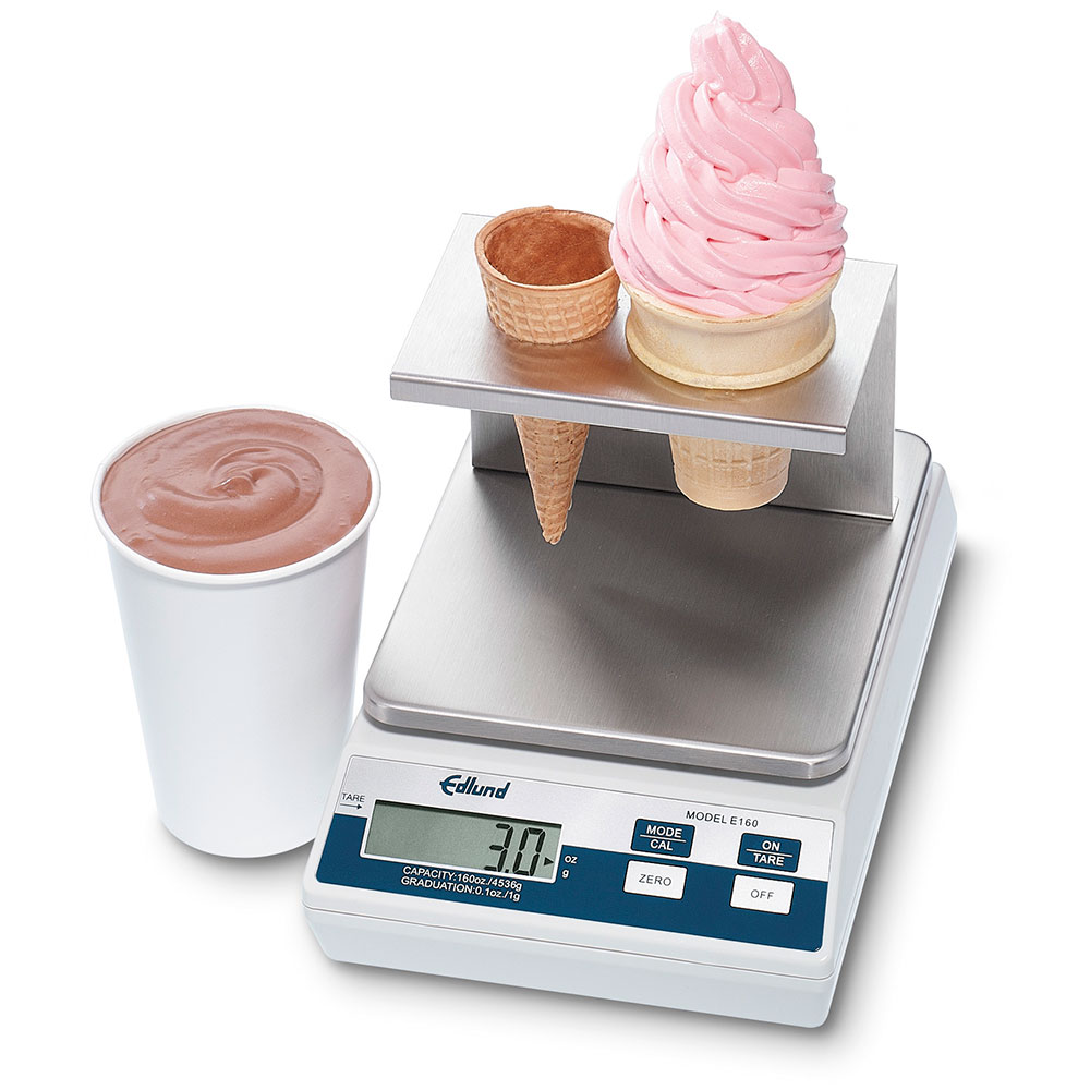 Edlund E-160 IC Digital Portion Scale, 160 oz x .1 oz, Stainless Platform