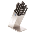 Edlund KBS-2006 Knife Block, 6 Open Slots, 9 in H, Stainless Steel Housing & Base