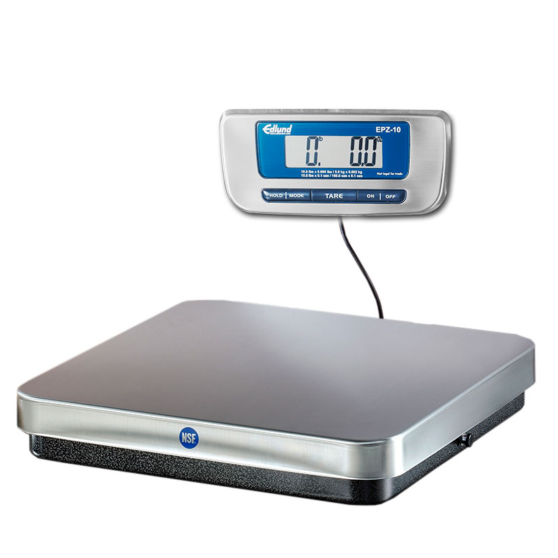 Edlund EPZ-10F 10-lb Digital Pizza Scale w/ Base Mounted Front Tar Button, Stainless