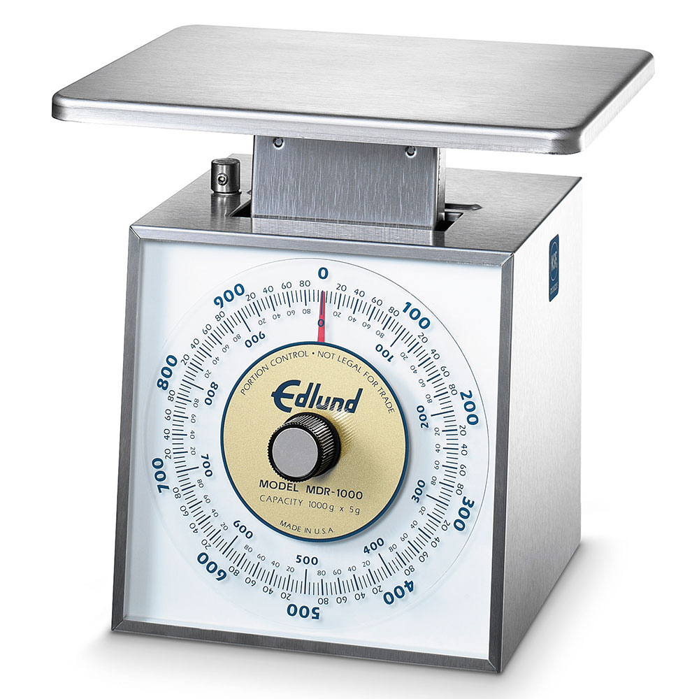 Edlund MDR-1000 OP Metric Portion Dial Type Scale, 1000 gm x 5 gm, Oversized Platform