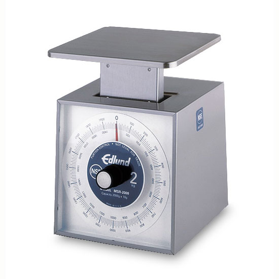 Edlund MSR-2000 Metric Portion Dial Type Scale, 2000 gm x 10 gm, Rotating Dial