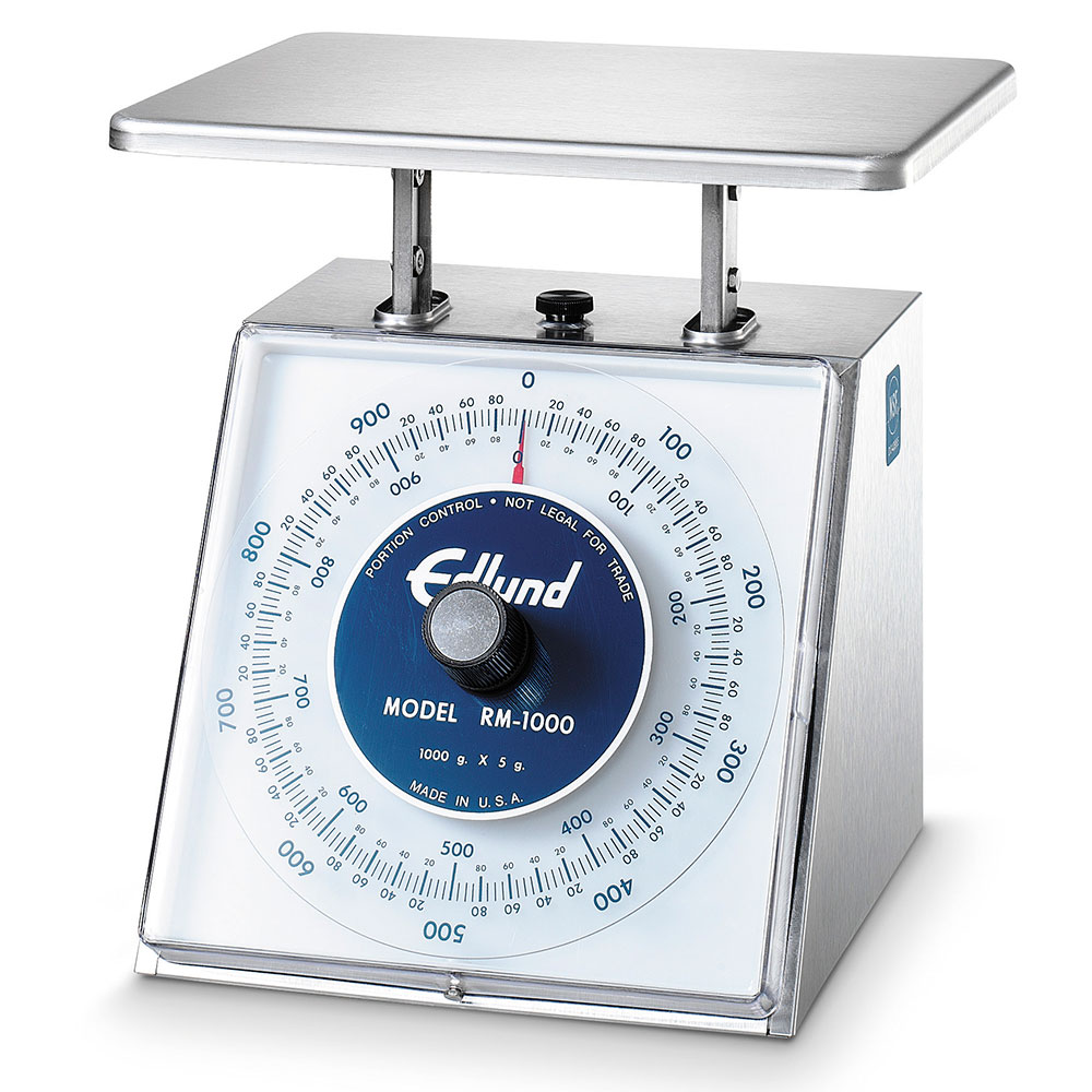 Edlund RM-1000 Rotating Dial Sloped Face Scale, 34 oz x 1/4 oz (1000 gm x 5 gm)