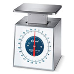 Edlund SF-25 Top Loading Fixed Dial Vertical Face Scale, 25 lbs x 4 oz