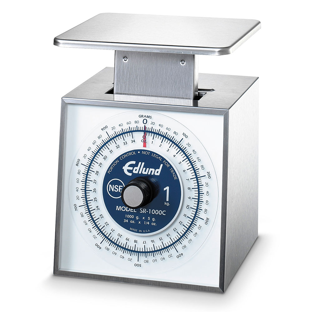Edlund SR-1000C Vertical Face Scale 34 oz x 1/4 oz Rotating Dial, Portion