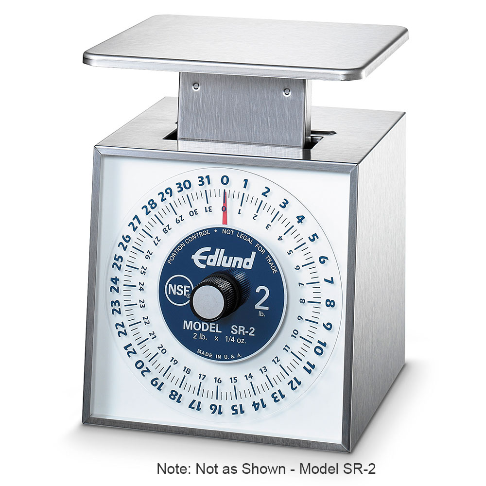 Edlund SR-1 Rotating Dial Portion Vertical Face Scale, 16 oz x 1/8 oz