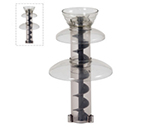 Sephra 17324 Replacement Tier Set w/ 3 Sleeves on Cylinder, for Model CF16, Clear Plastic