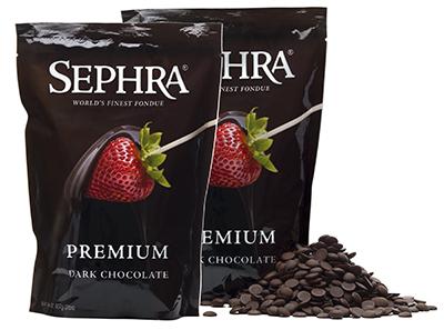 Sephra 21004 Premium Dark Couverture Fondue Chocolate, (2) 2-lb Bags