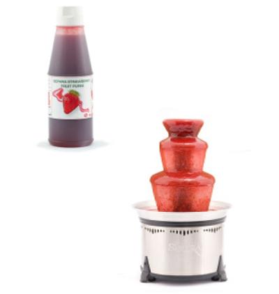 Sephra 33033 Strawberry Fruit Dessert Topping & Fondue, Imported, .75-L Bottle