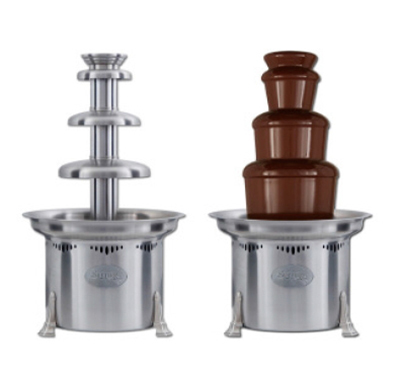 Sephra CF23R2 23-in Chocolate Fountain w/ Carrying Cases & Removable Basin, 7-lb Capacity