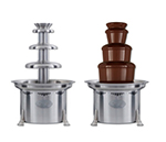 "Sephra CF27R2 27"" Chocolate Fountain w/ Carrying Cases & Removable Basin, 10-lb Capacity"