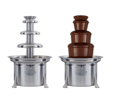 Sephra CF27R2 27-in Chocolate Fountain w/ Carrying Cases & Removable Basin, 10-lb Capacity
