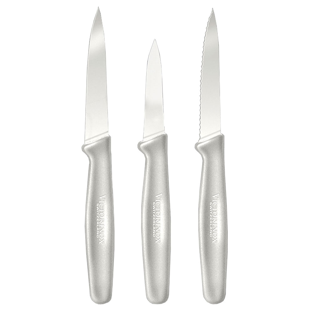 Victorinox - Swiss Army 49765 3-Piece Paring Knife Set w/ White Handles
