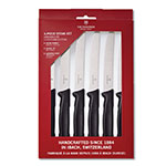Victorinox - Swiss Army 47558 6-Piece Steak Knife Set w/ Round Tip & Wavy Edge