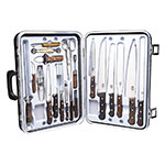 Victorinox - Swiss Army 46052 Executive Culinary Set 24-Piece w/ Rosewood Handles, Black Case